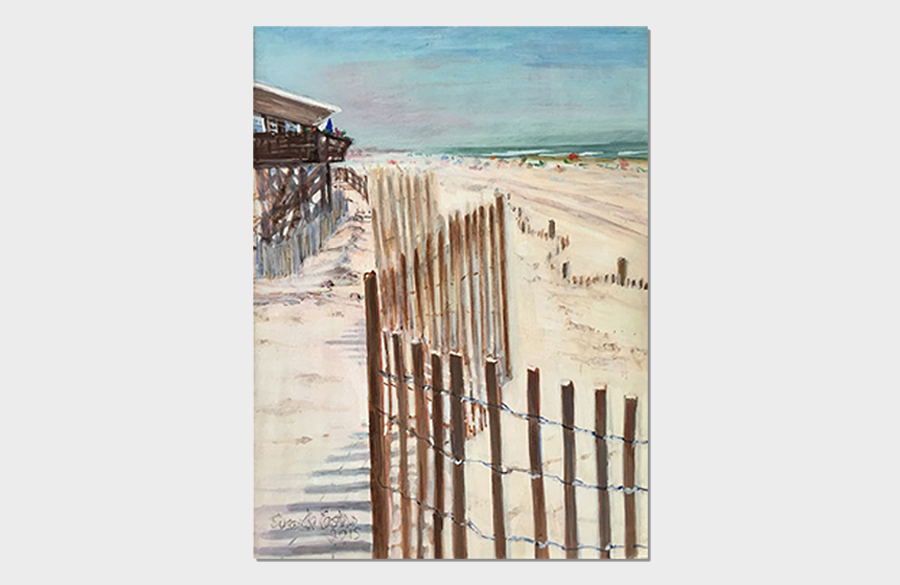 Davis Park Fire Island Beach 6x8 Egg Tempera