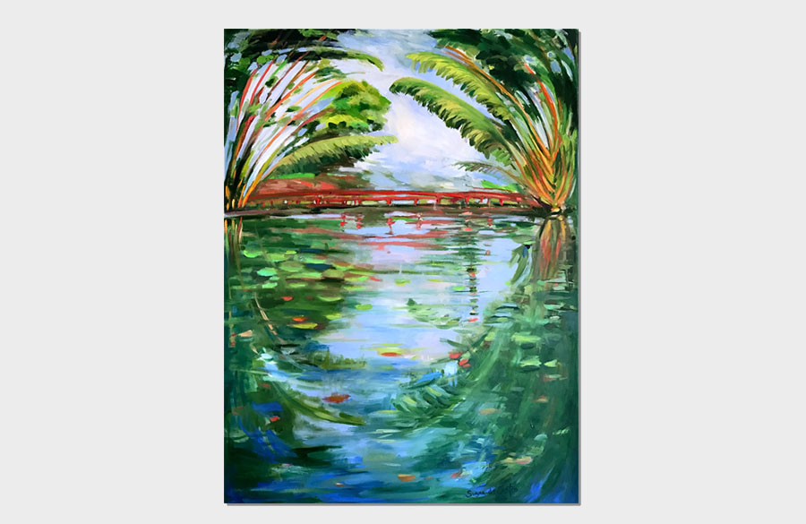 Lago Frei Leandro with Bridge 24x36 Oil