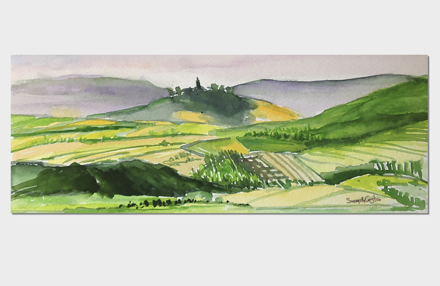 Umbrian Watercolor 3x10 Watercolor