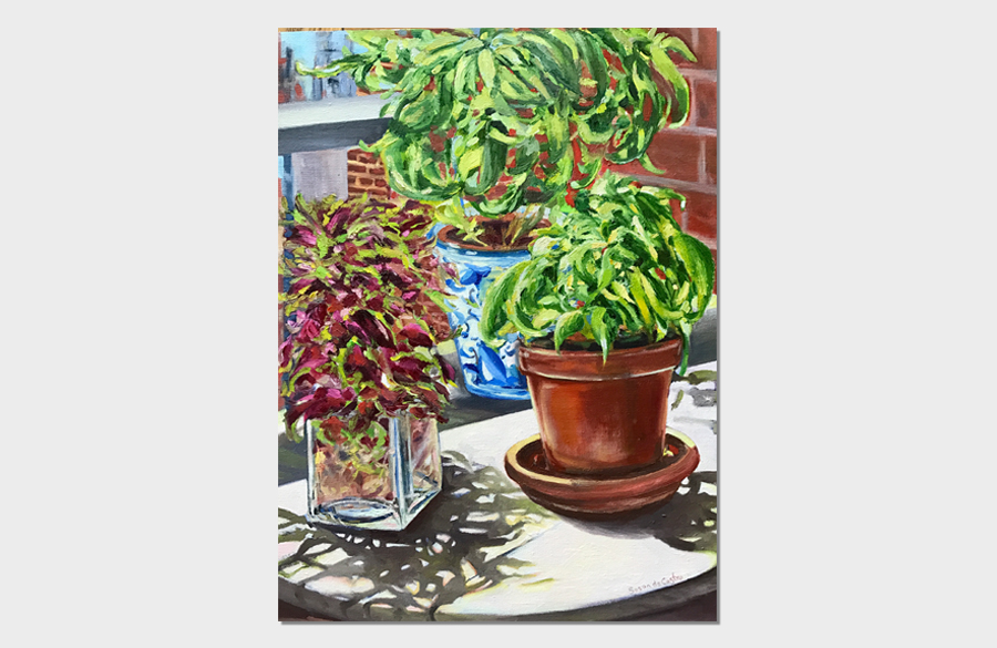 Basil and Coleus 18x24 Oil