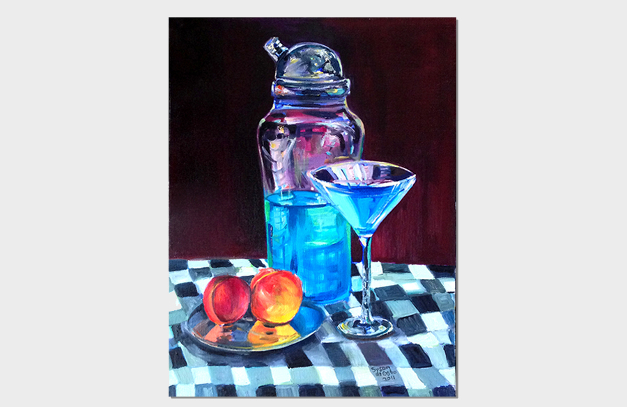 Blue Cocktail 18x24 Oil