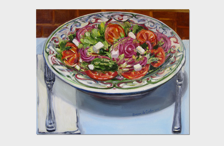 Greek Salad 16x20 Oil